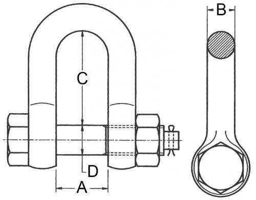 Schaekel-gerade-Form-mit-Mutter-und-Splint_zeichnung