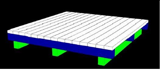 Palette 1000x1000x230mm Tara 53,00kg - vierfach unterfahrbar