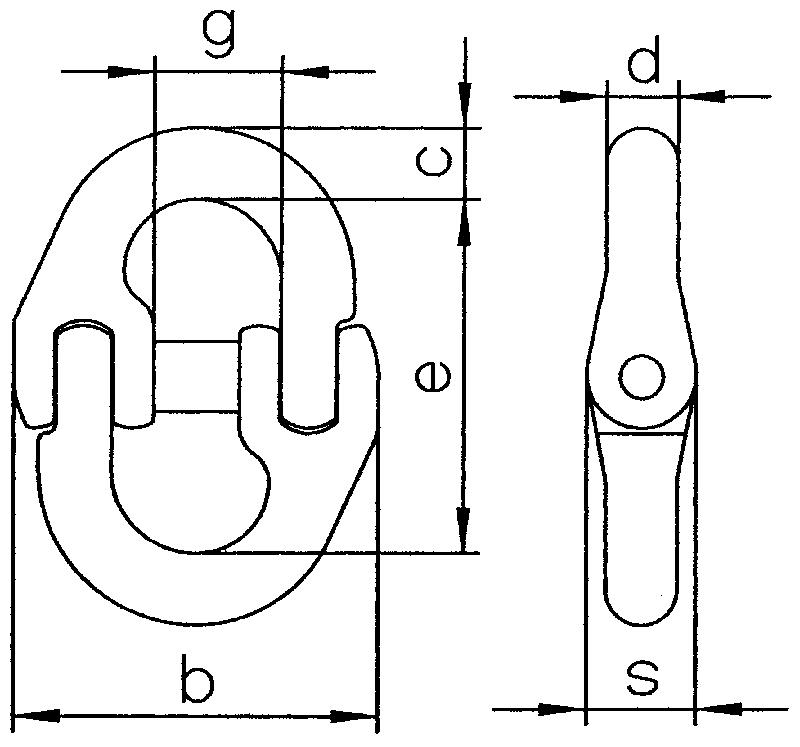 Verbindungsglied-V-zeichnung