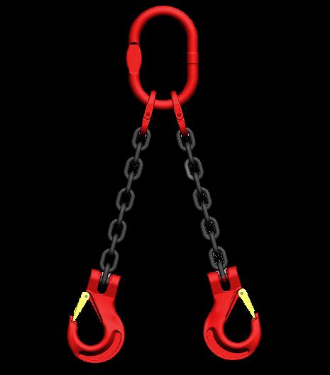 GK 8 Kettengehänge 2-Strang, 8 mm, Länge: 6,0 mtr.