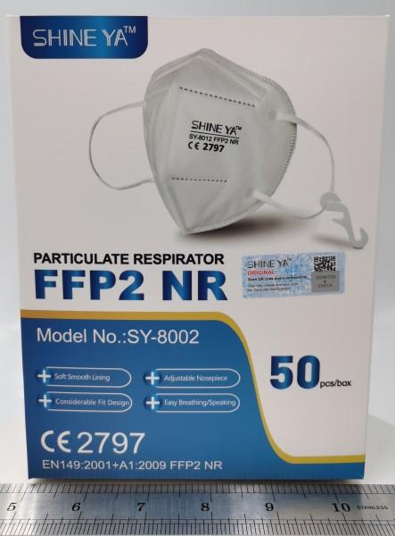 ATEMSCHUTZMASKE FFP2 KN95 mit CE VPE 100Stk.